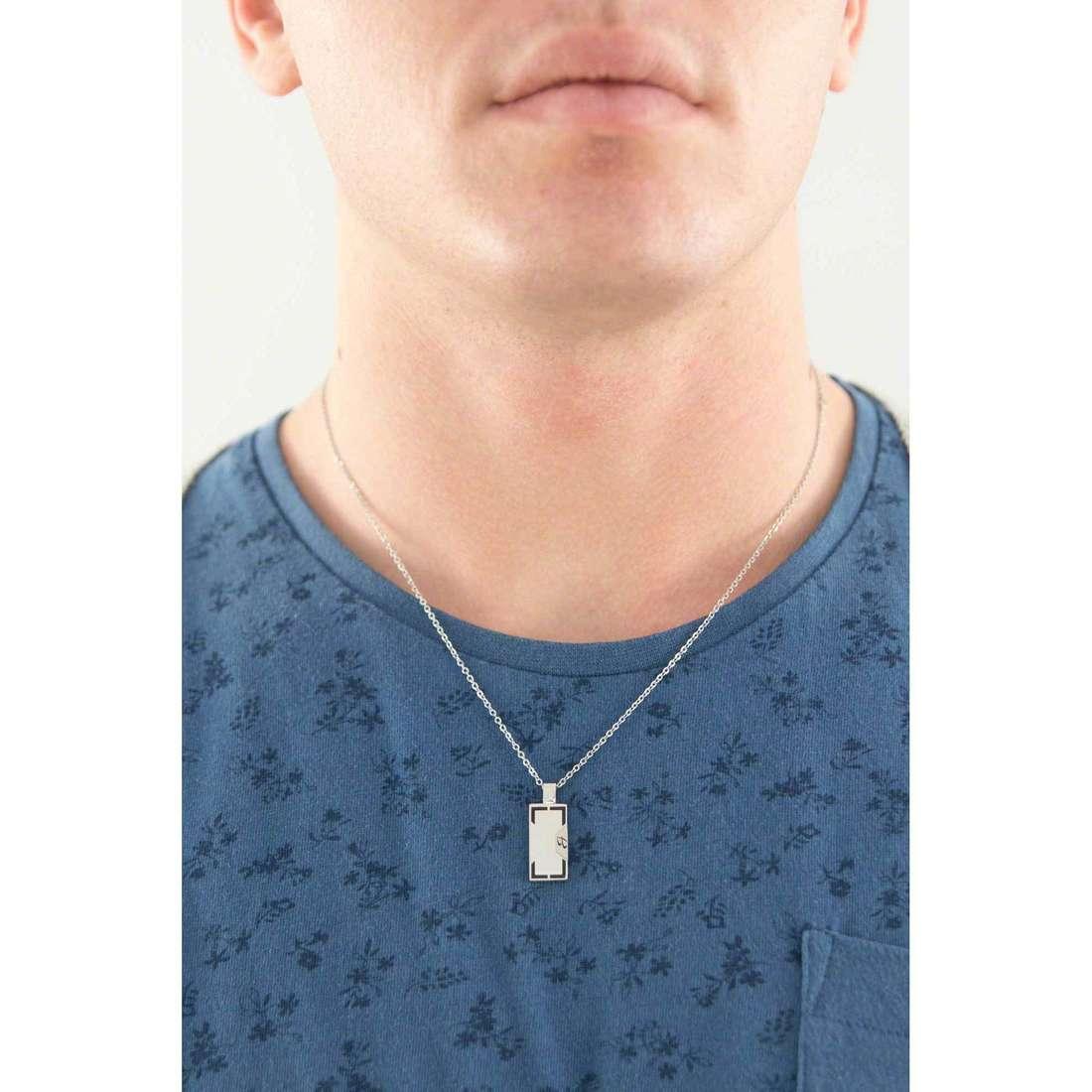 Luca Barra necklaces man LBCA311 indosso