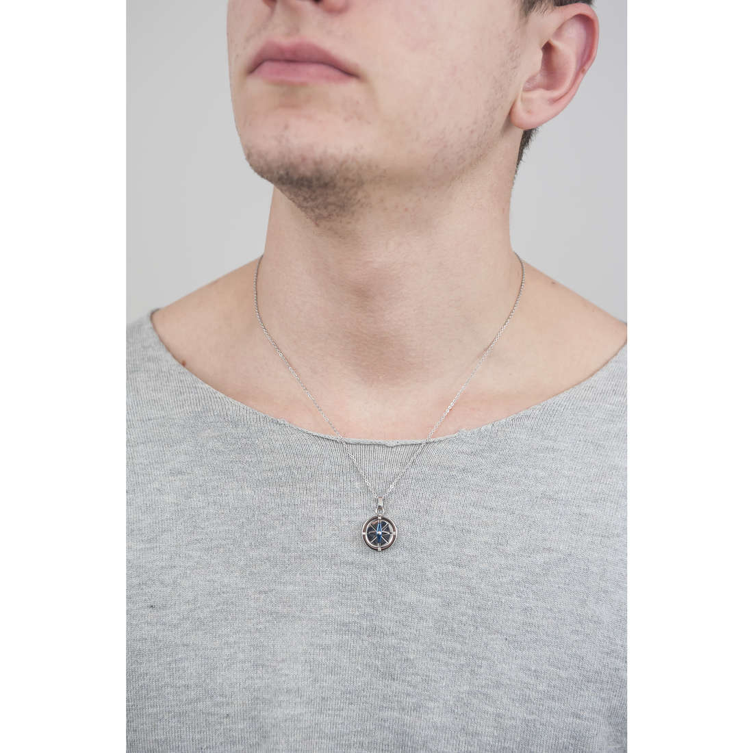 Luca Barra necklaces man LBCA320 photo wearing