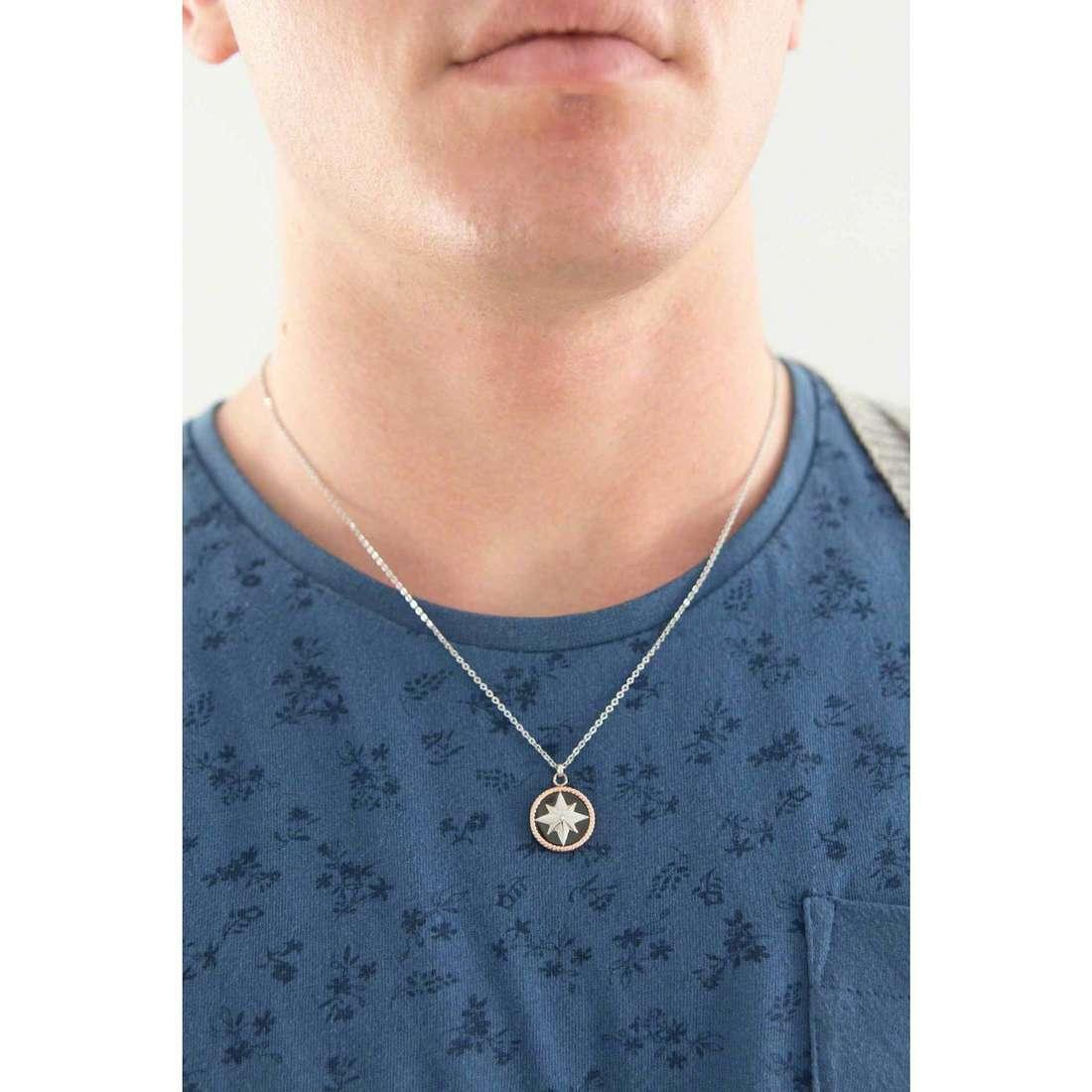 Luca Barra necklaces man LBCA325 indosso