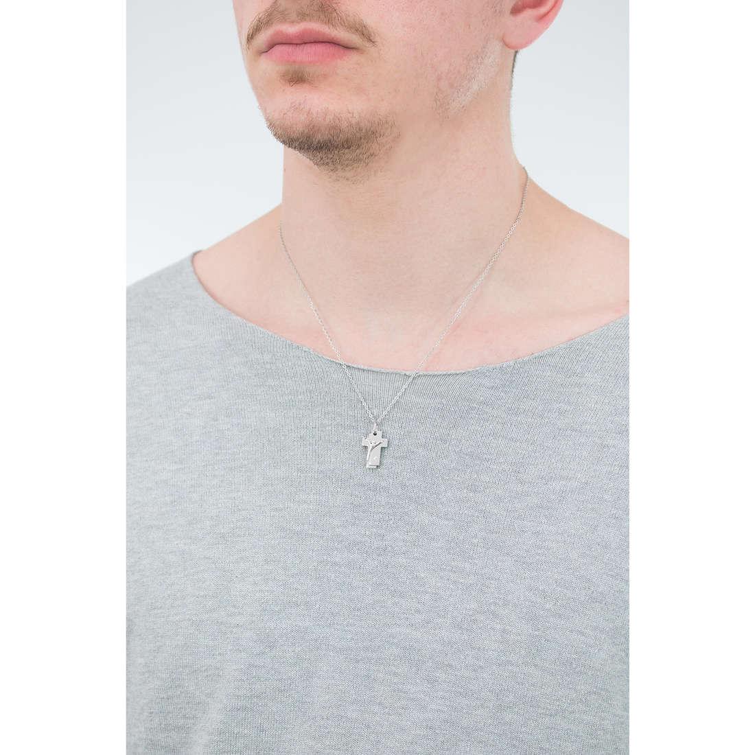 Luca Barra necklaces man LBCA326 indosso