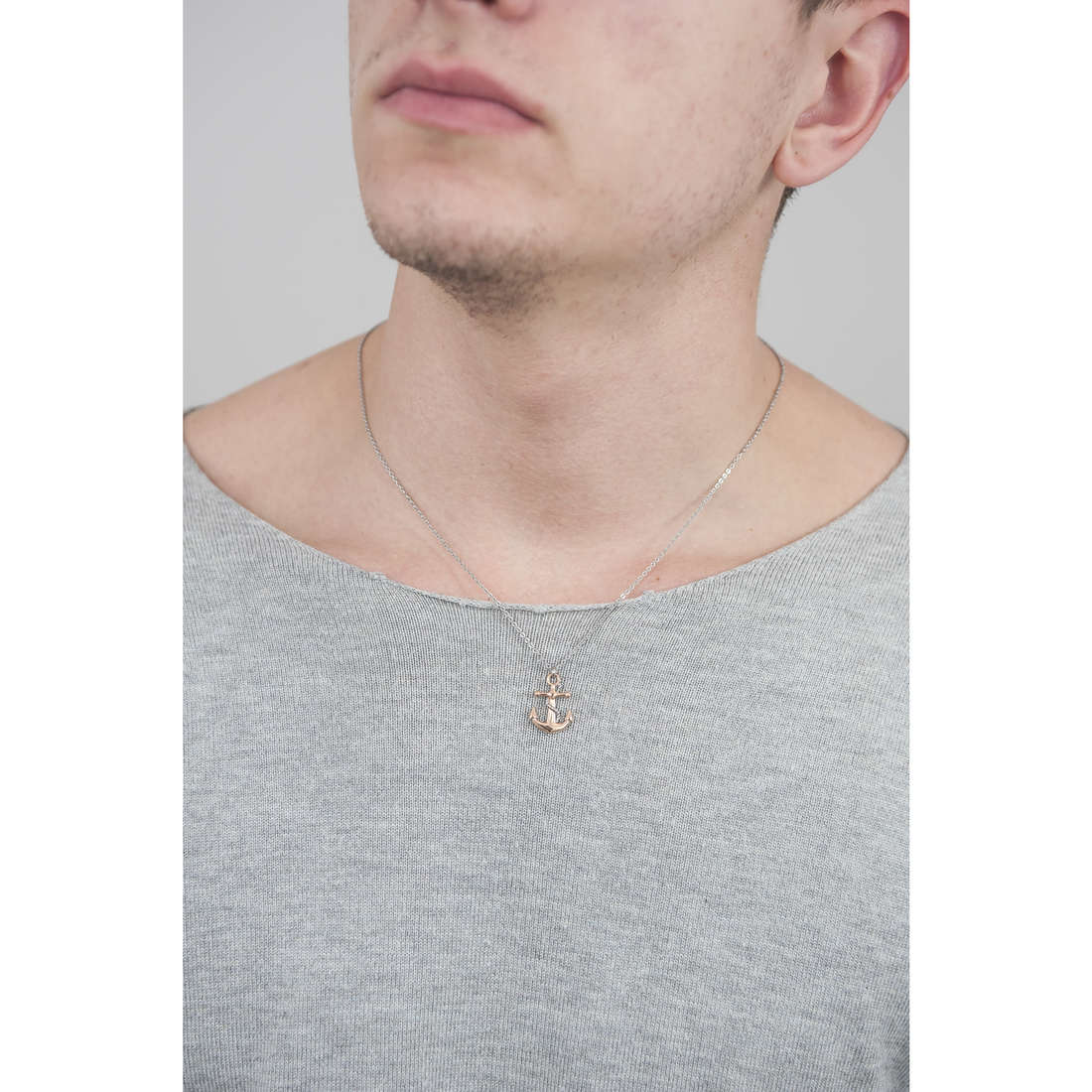 Luca Barra necklaces man LBCA367 photo wearing