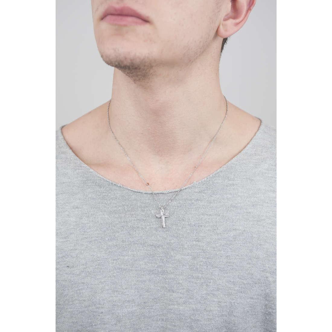 Luca Barra necklaces man LBCA368 indosso