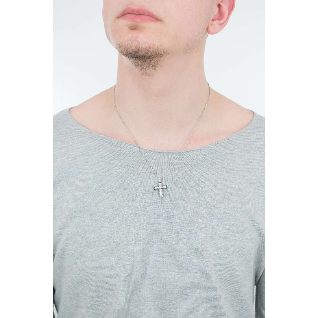Luca Barra necklaces Religion Soul man LBCA382 photo wearing