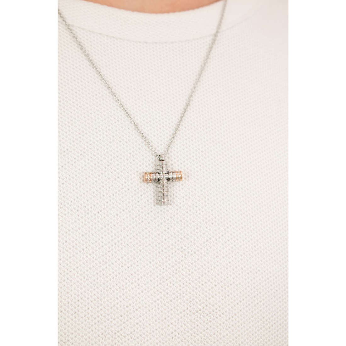 Luca Barra necklaces Religion Soul man LBCA383 photo wearing