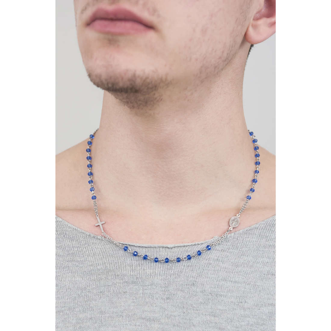 Luca Barra necklaces man LBCL183 indosso