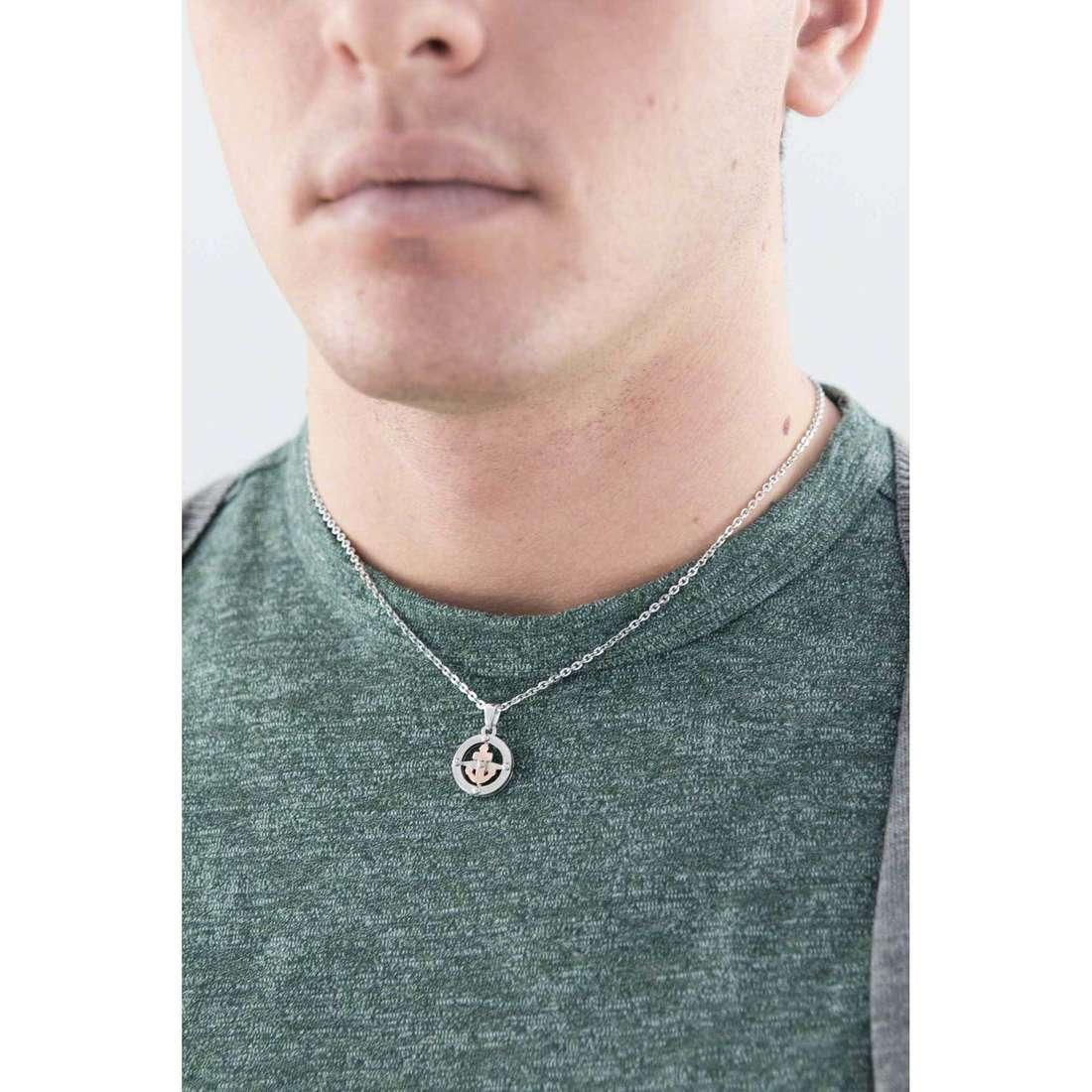 Morellato necklaces Versilia man SAHB01 indosso