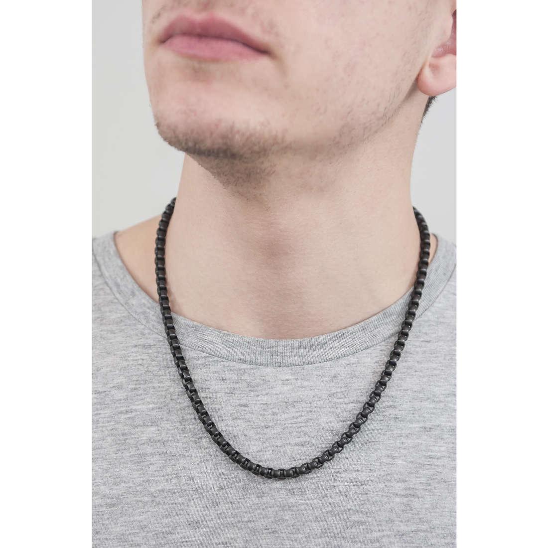 Police necklaces Battle man S14AGM01C indosso