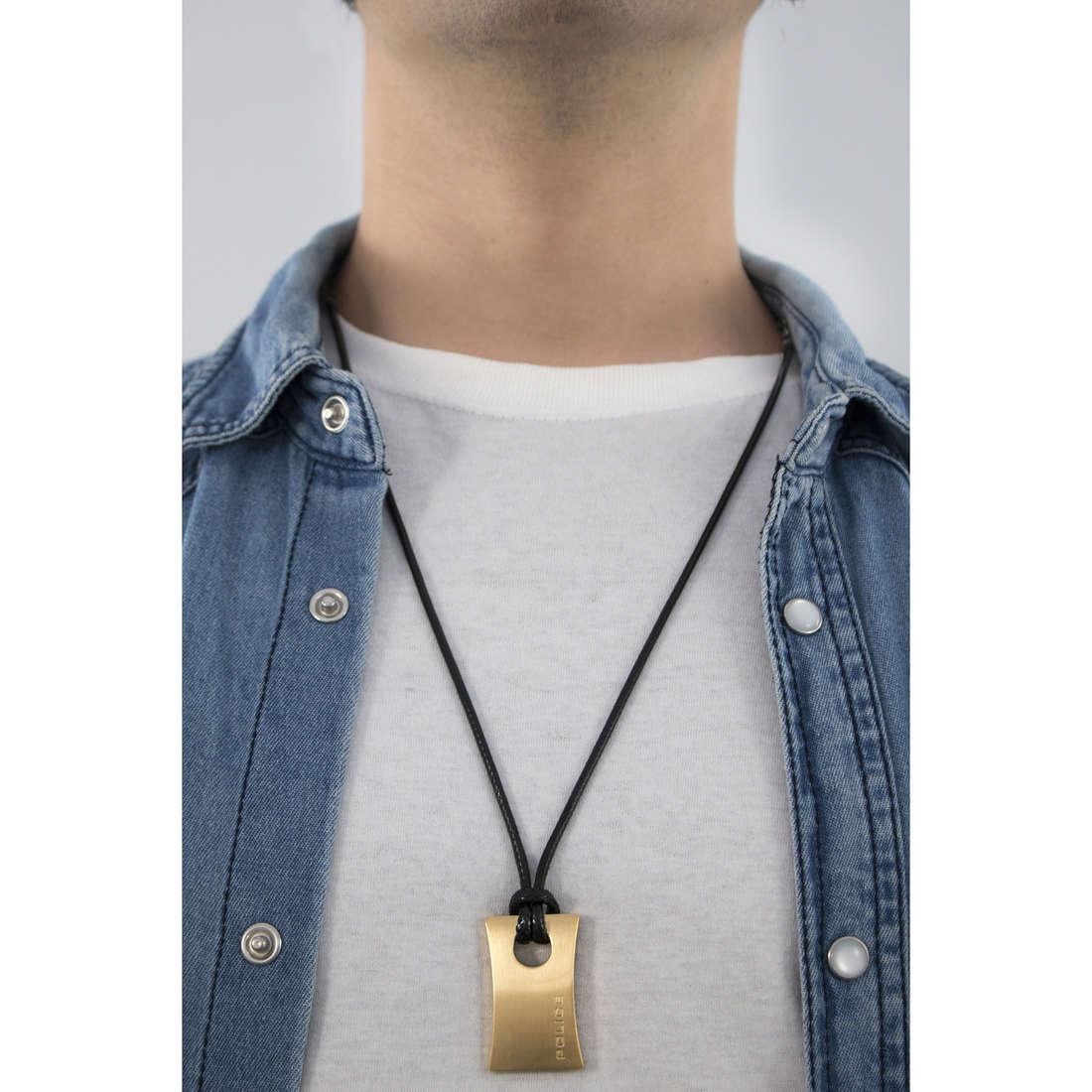 Police necklaces Carver man S14AGN02P indosso