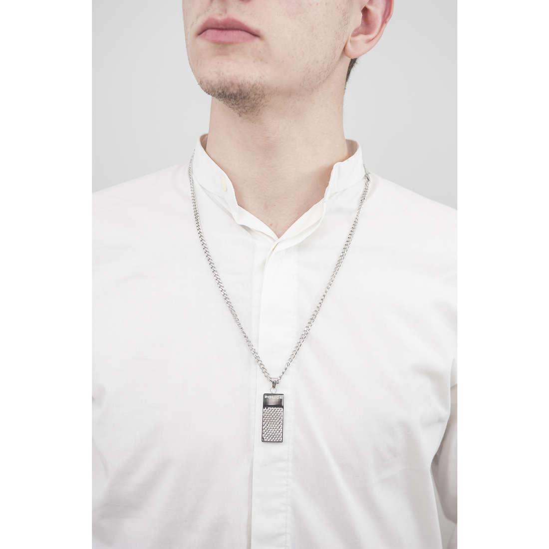 Police necklaces Defense man S14AFG03P indosso