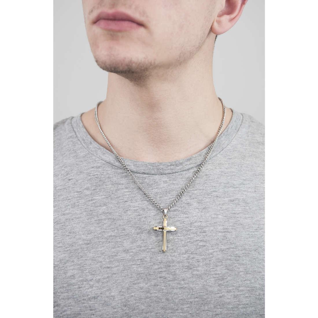Police necklaces Glaze man S14AGR02P indosso