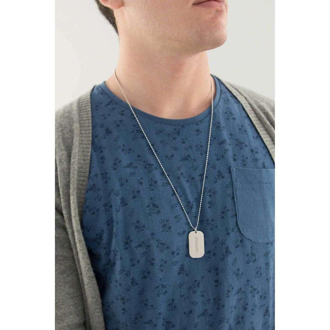 Sagapò necklaces Tag.Me man SGM26 indosso