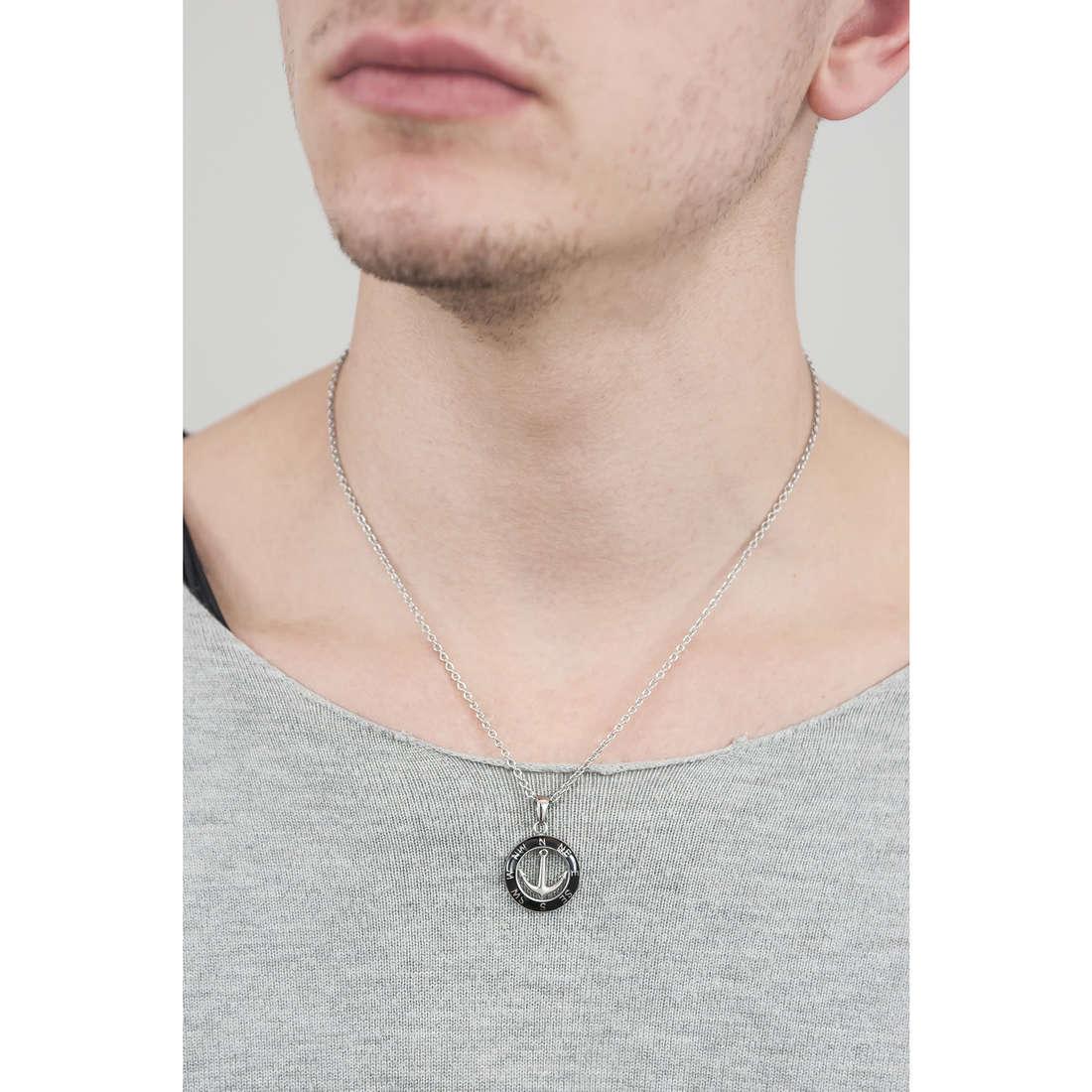 Sector necklaces Marine man SADQ03 indosso