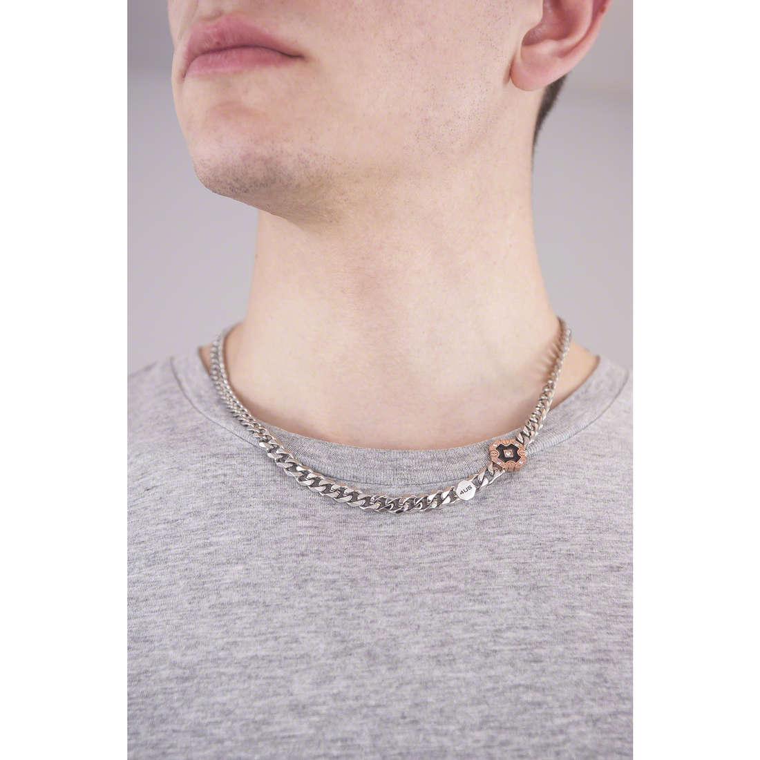 4US Cesare Paciotti necklaces man 4UCL0896 indosso