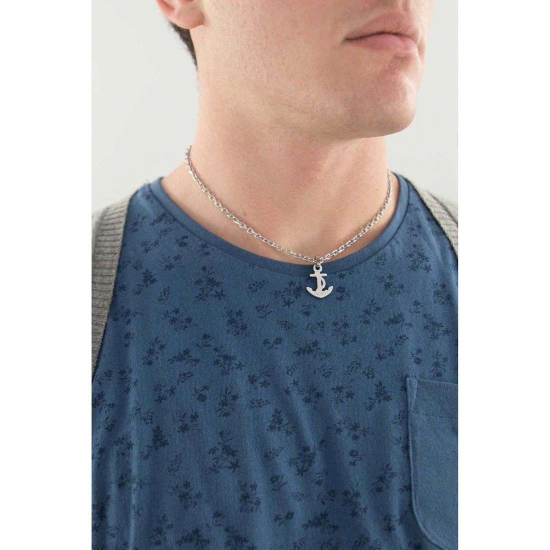 Sagapò necklaces Harbour unisex SHR02 indosso