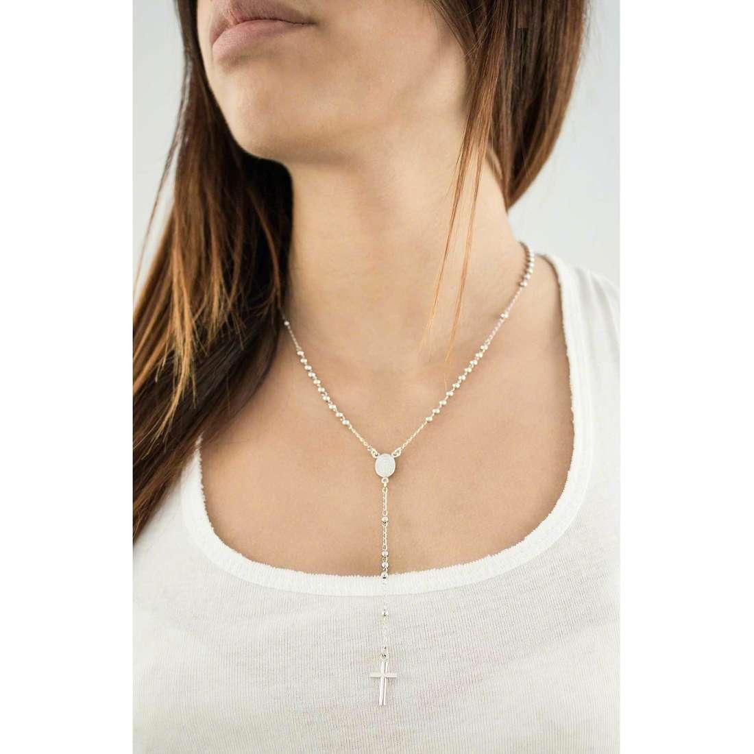 Amen necklaces Rosario woman CRO30B indosso