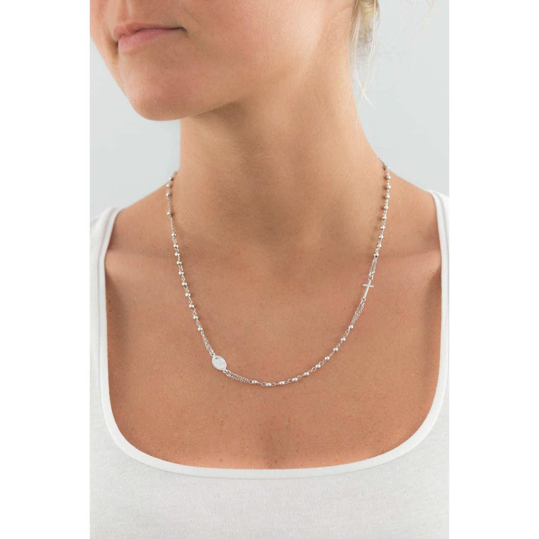 Amen necklaces Rosario woman CROB3 indosso