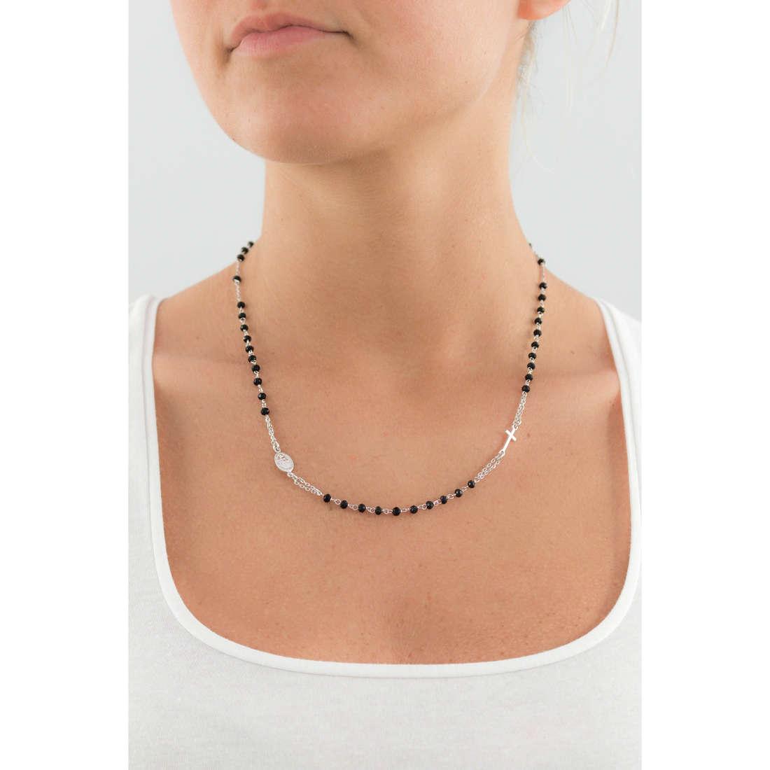 Amen necklaces Rosario woman CROBN3 indosso