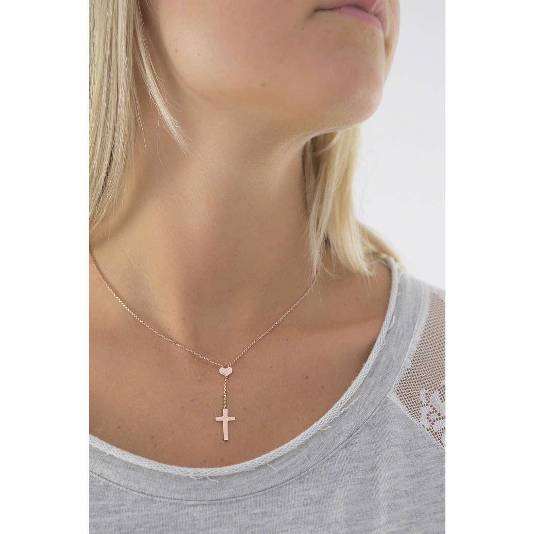 Amen necklaces Croce woman CLCHR indosso