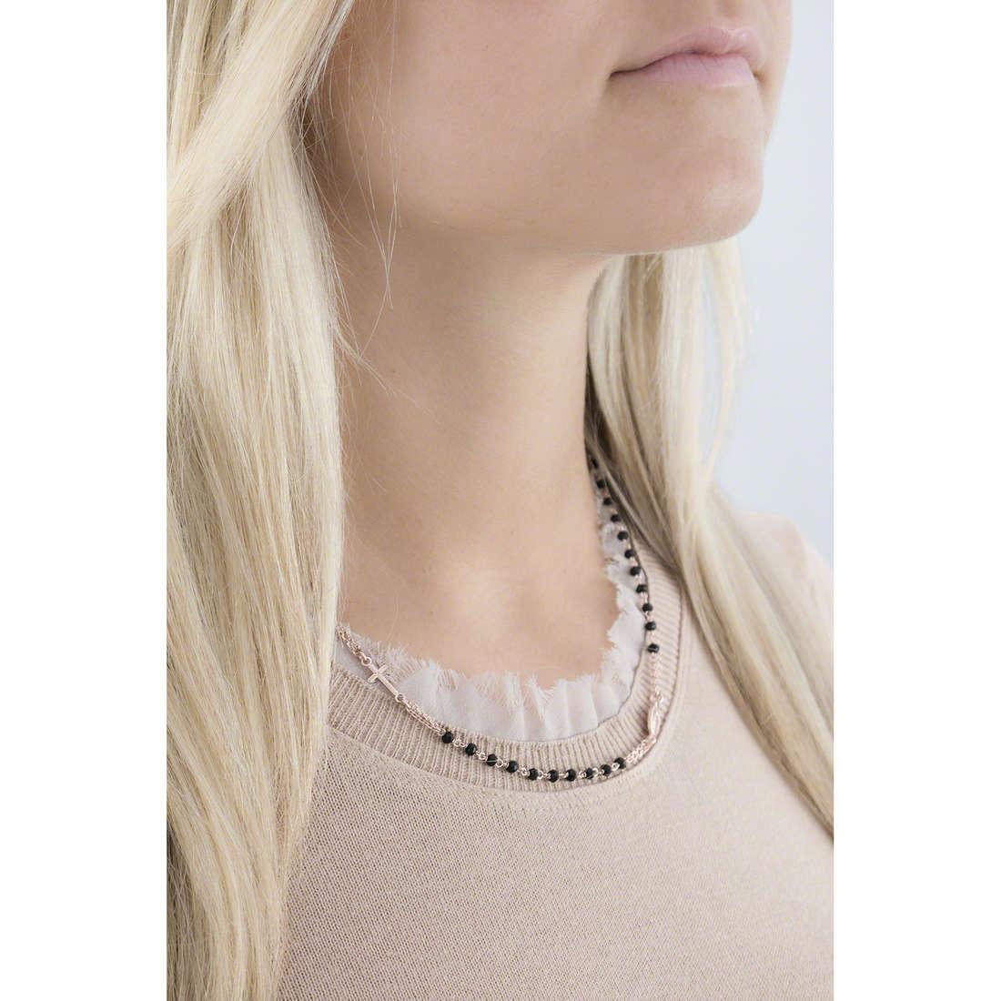 Amen necklaces Rosario woman CRORN3 indosso