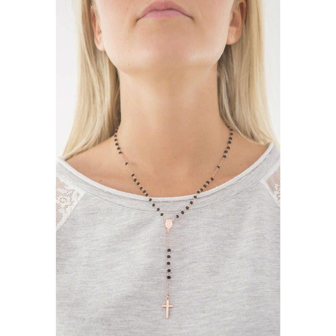 Amen necklaces Rosario woman CRORN4 indosso