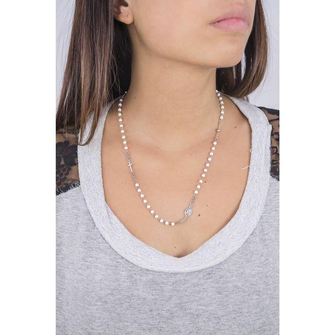 Amen necklaces Rosario woman CROBB3 indosso