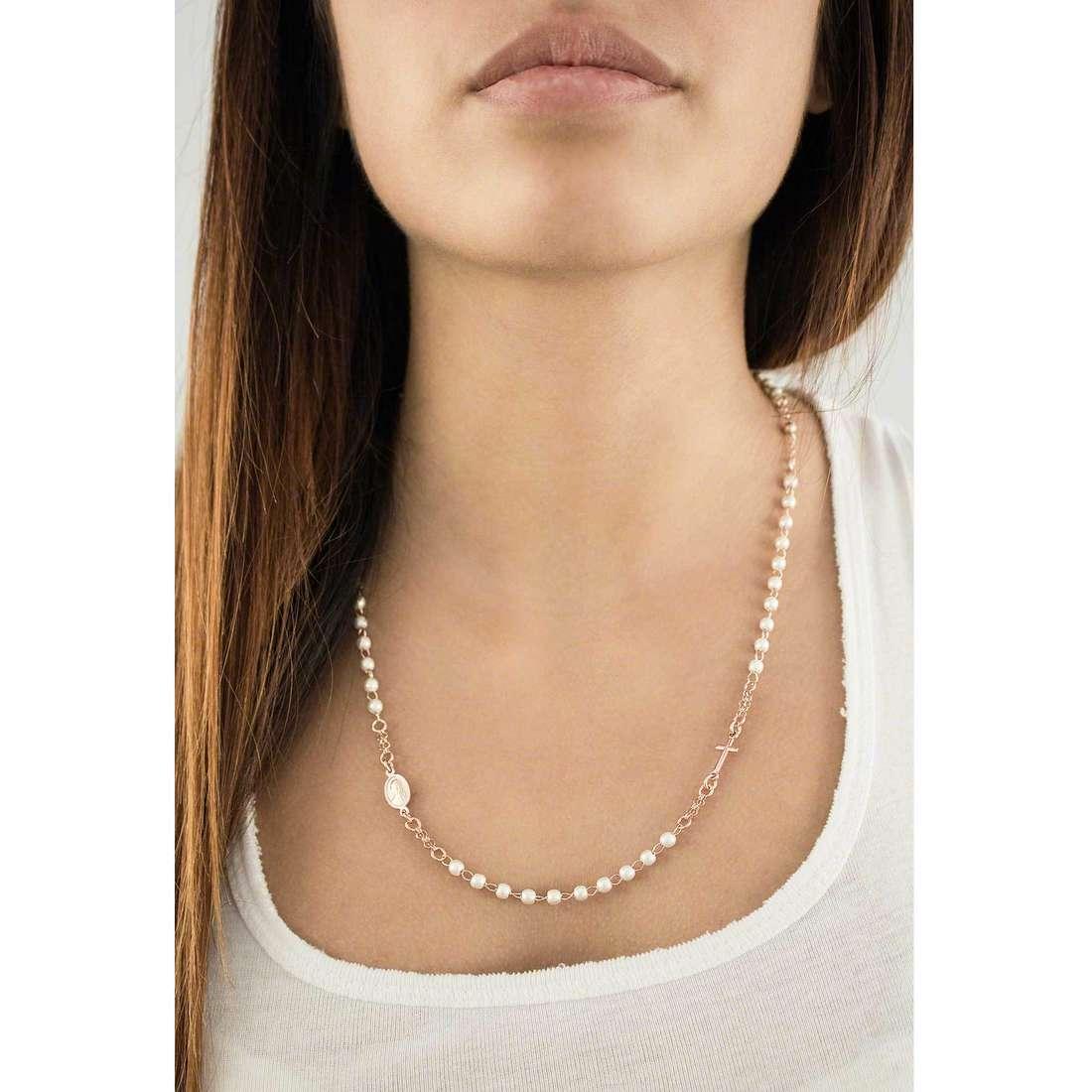 Amen necklaces Rosario woman CRORB3 indosso