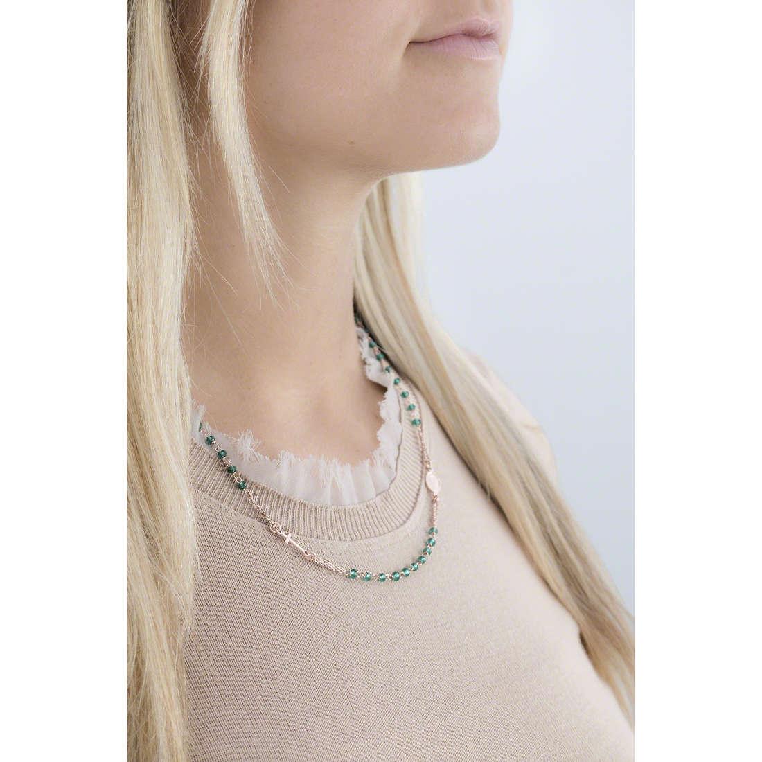 Amen necklaces Rosario woman CRORV3 indosso