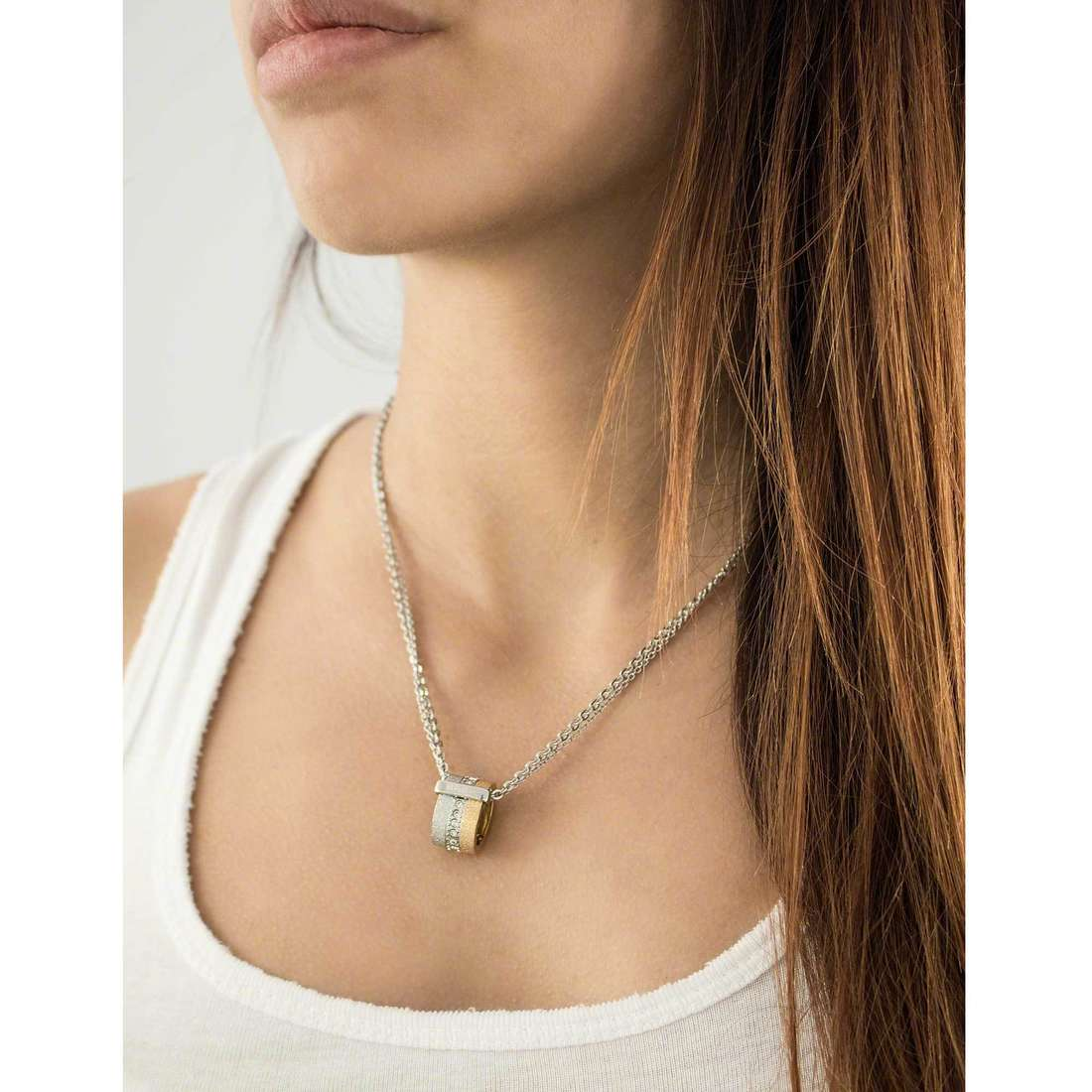 Breil necklaces Breilogy woman TJ1430 indosso