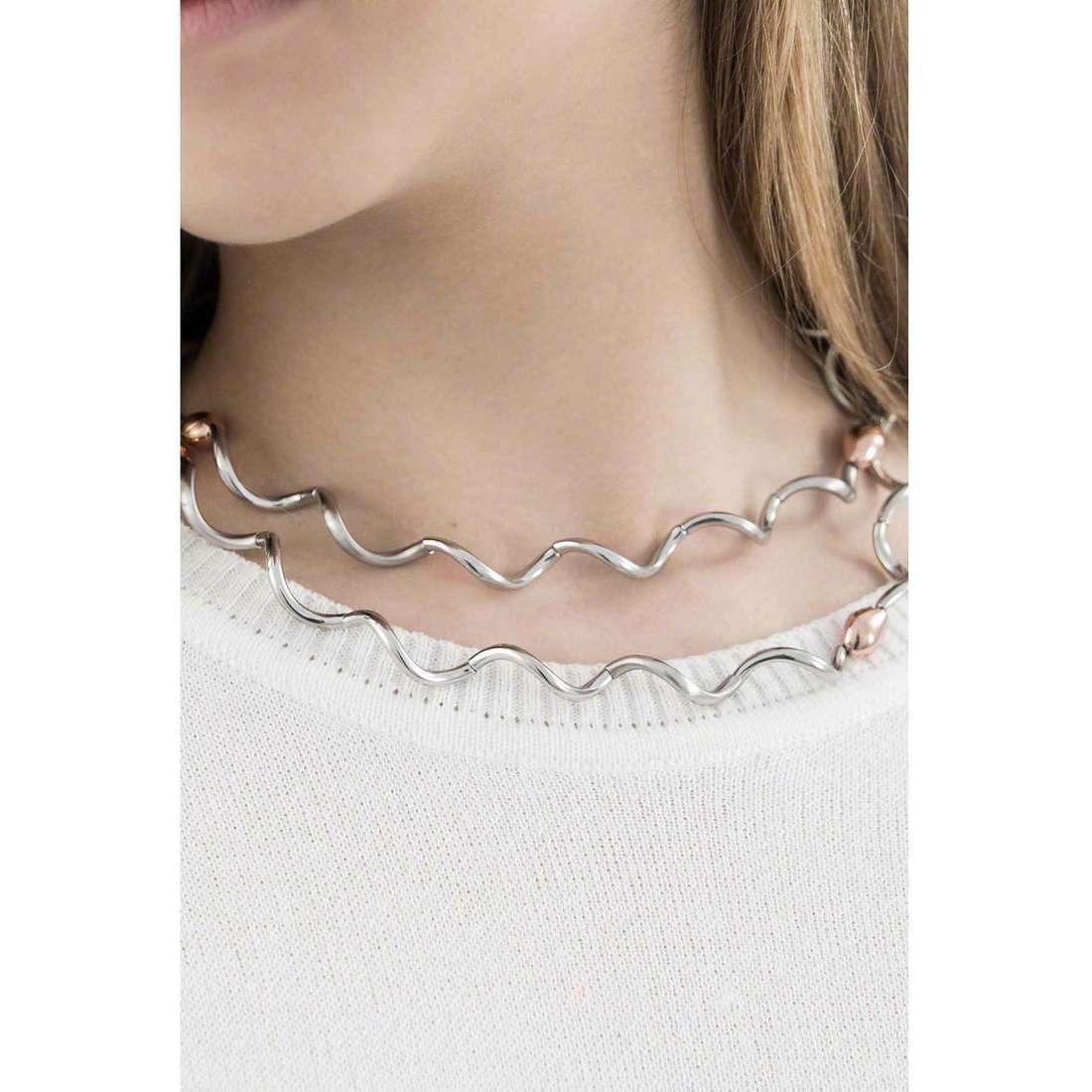 Breil necklaces Flowing woman TJ1574 indosso