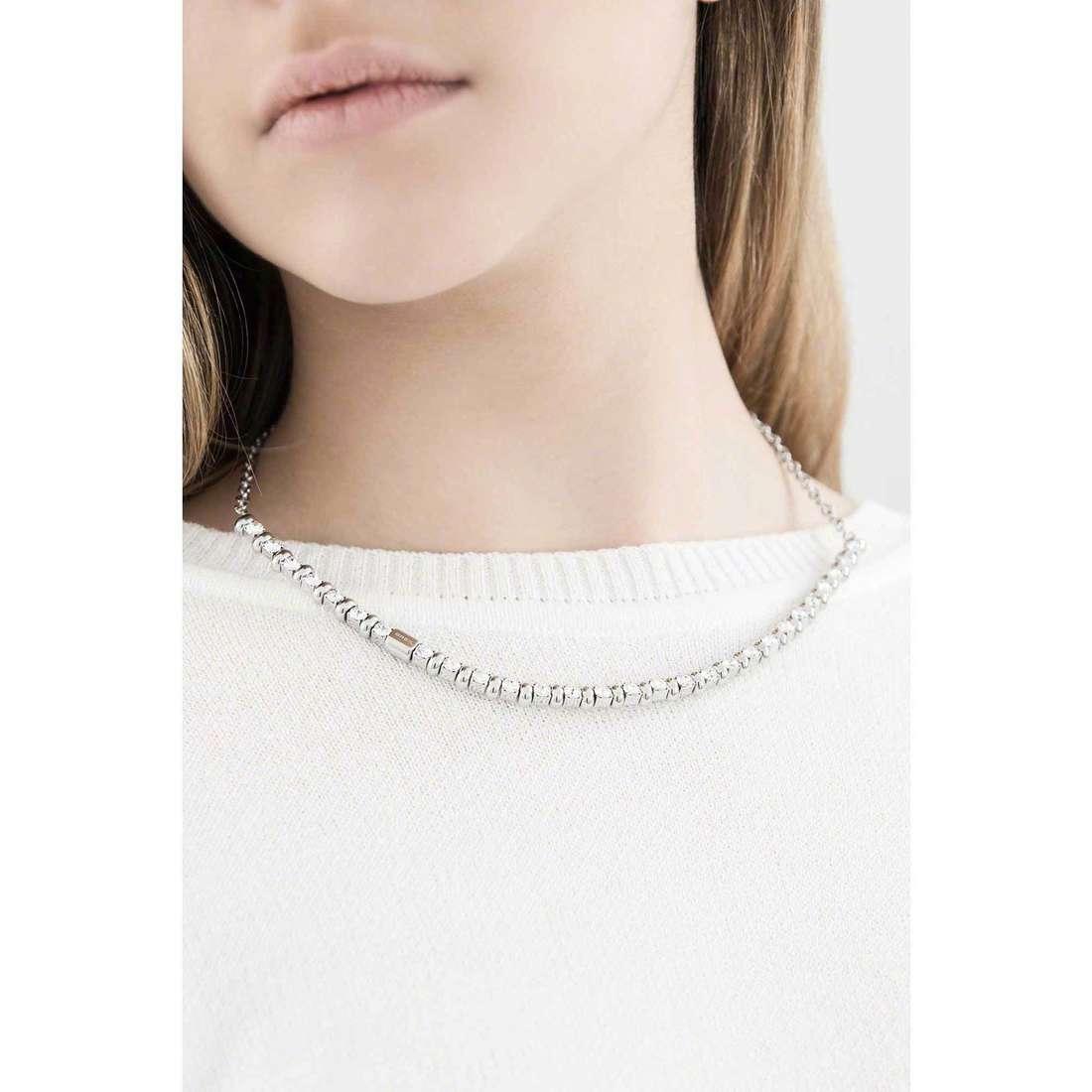 Breil necklaces Rolling Diamonds woman TJ1569 indosso