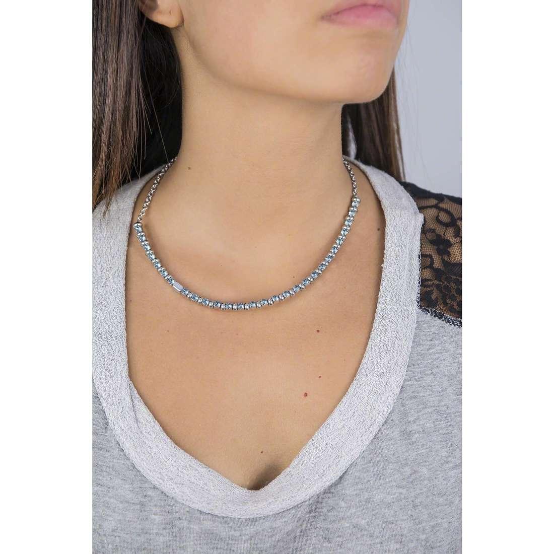 Breil necklaces Rolling Diamonds woman TJ1571 indosso