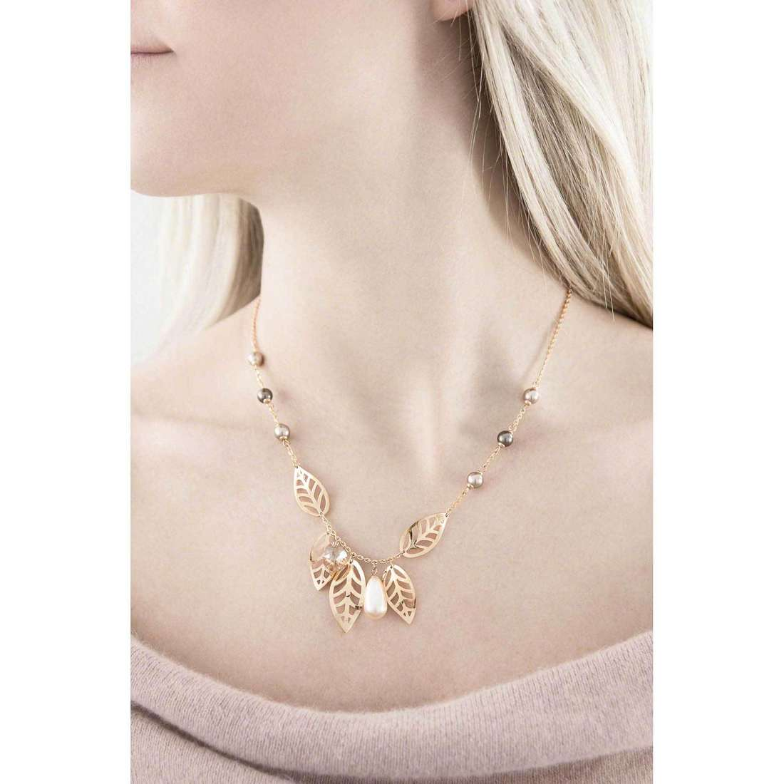Brosway necklaces Leaves woman BLS05 indosso