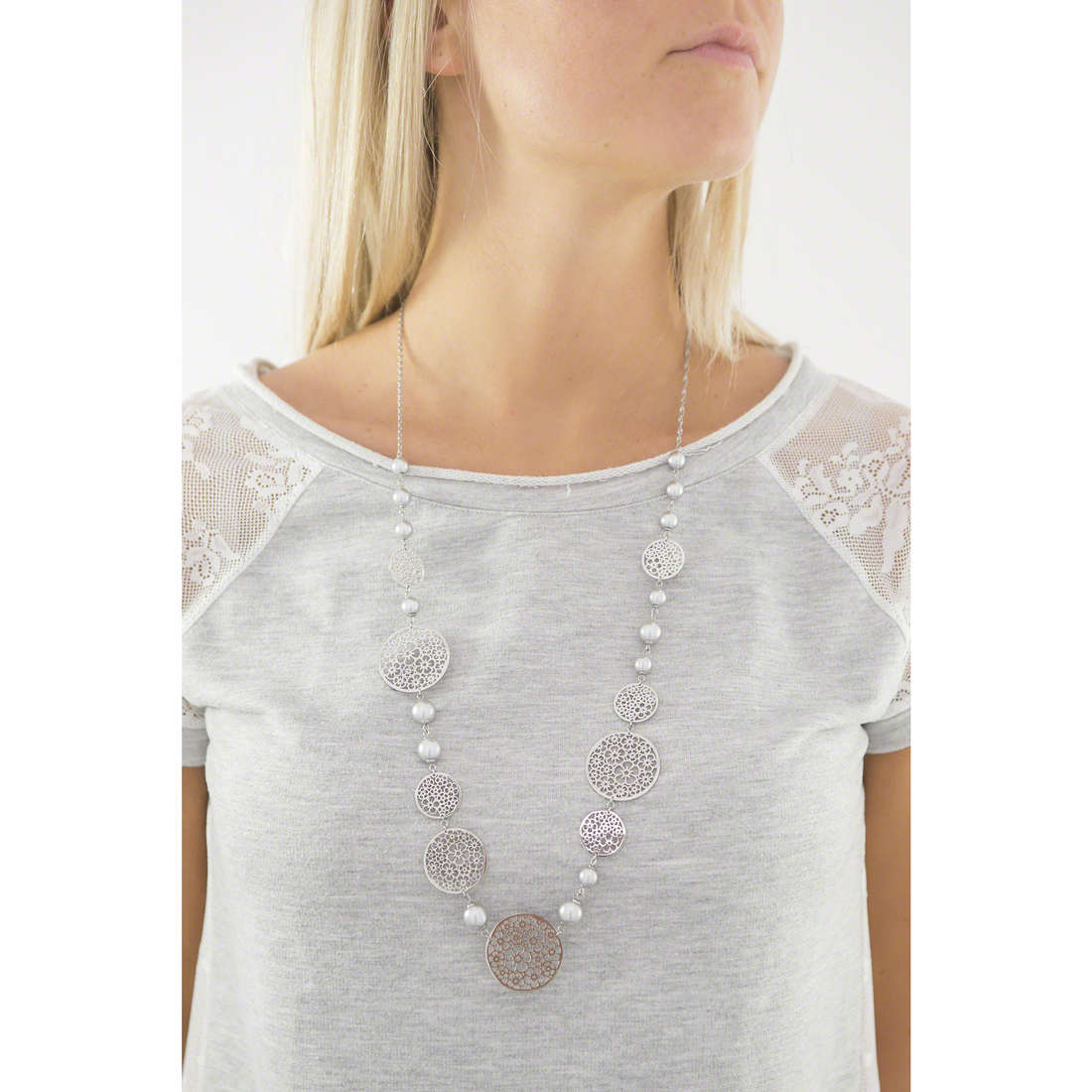 Brosway necklaces Mademoiselle woman BIS02 indosso