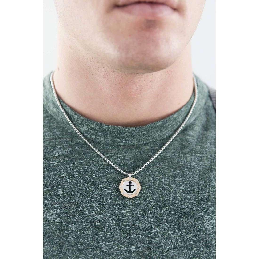 Brosway necklaces Ocean woman BOE03 indosso