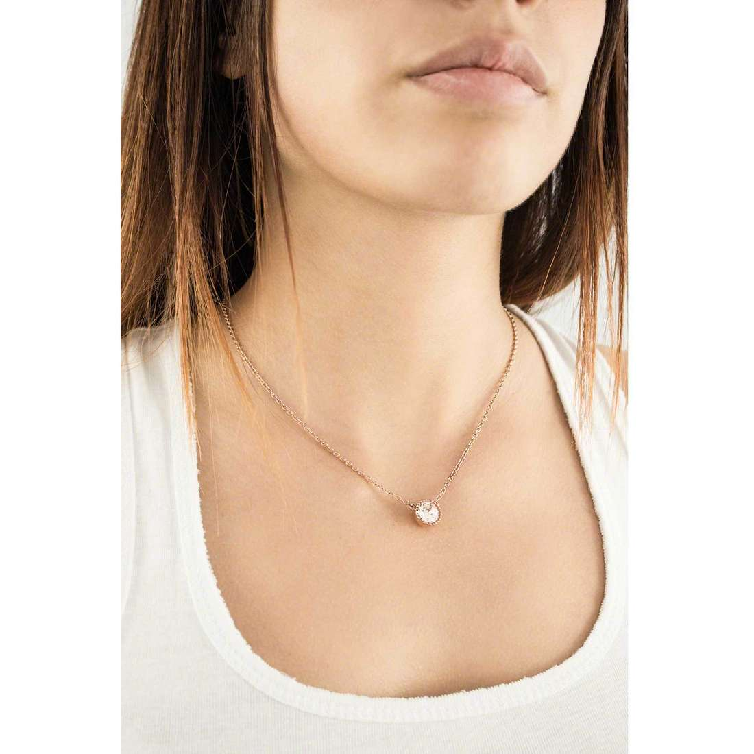 Brosway necklaces Riflessi woman BRF02 indosso