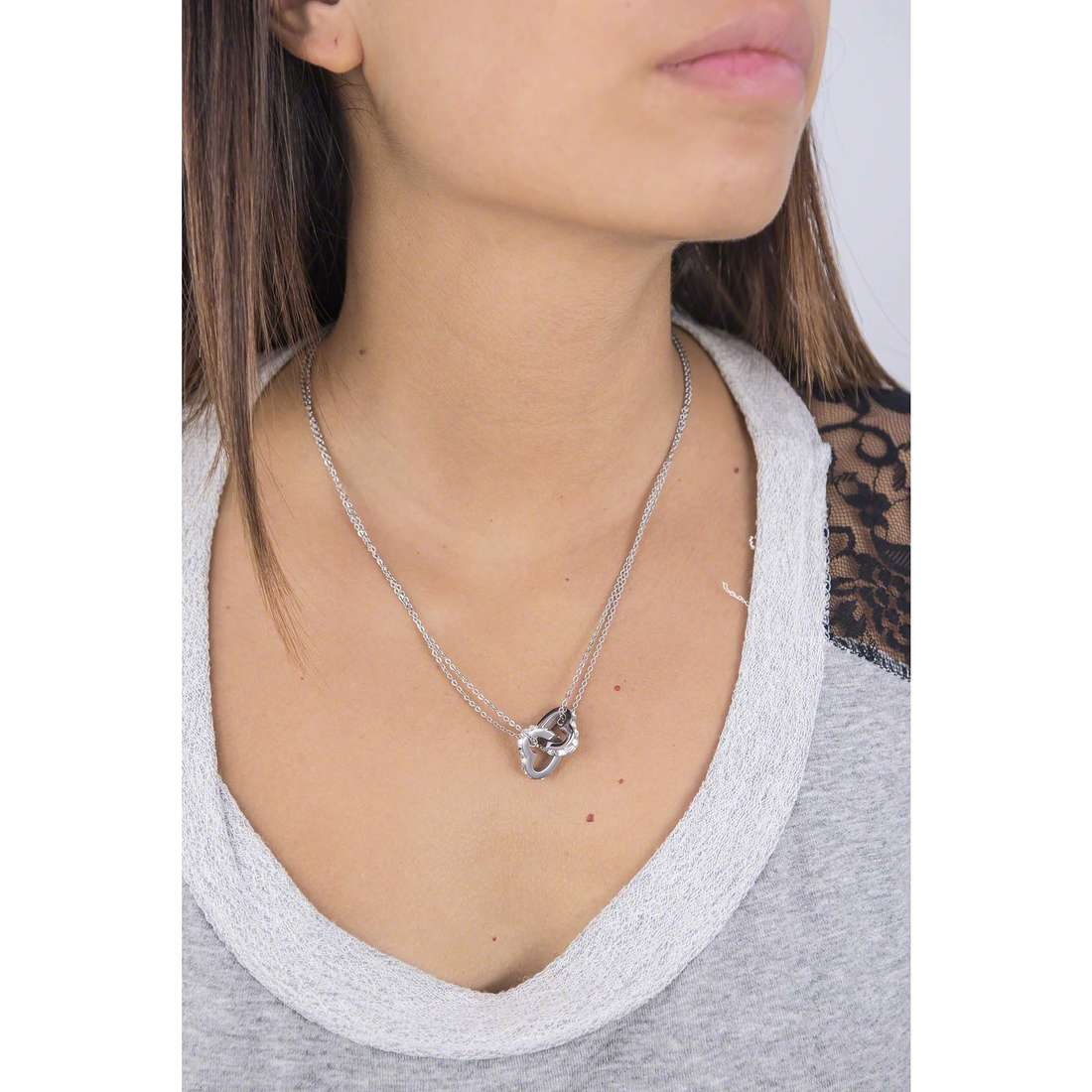 Brosway necklaces Romeo & Juliet woman BRJ07 indosso