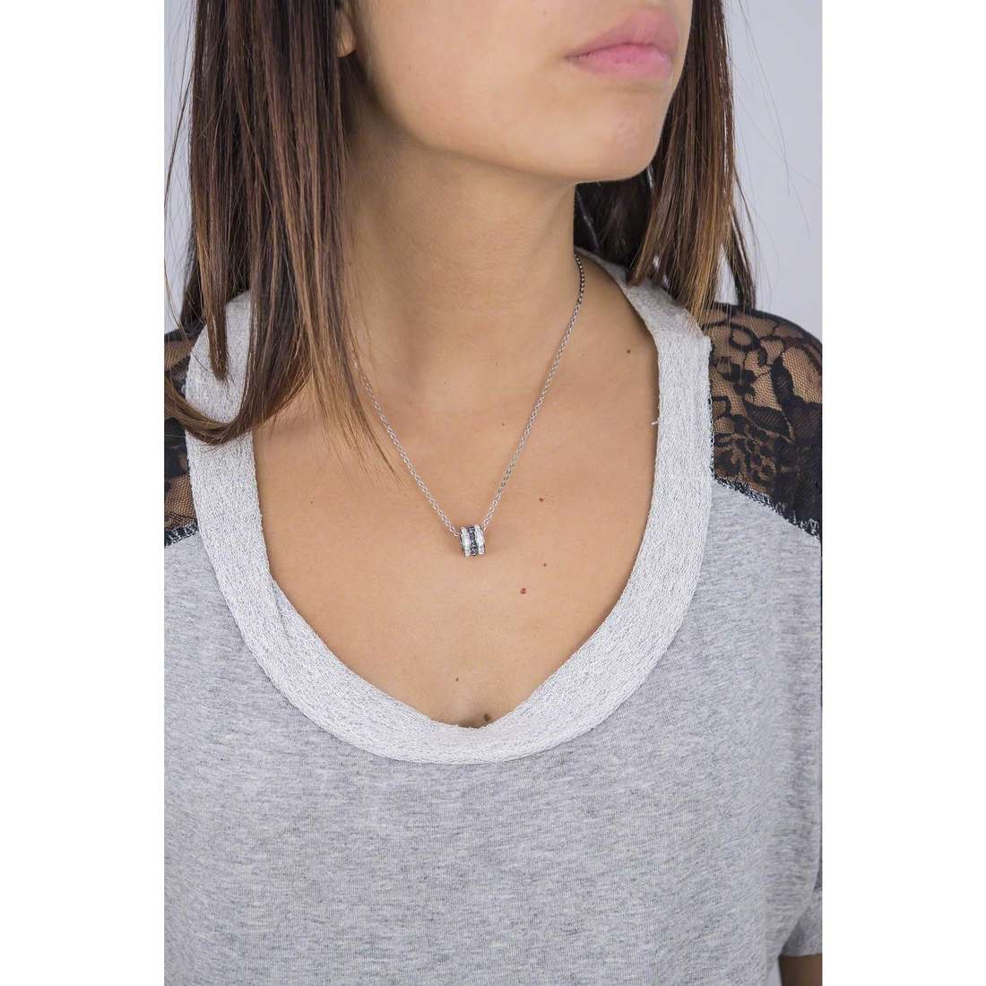 Brosway necklaces Trinique woman BTQ01 indosso