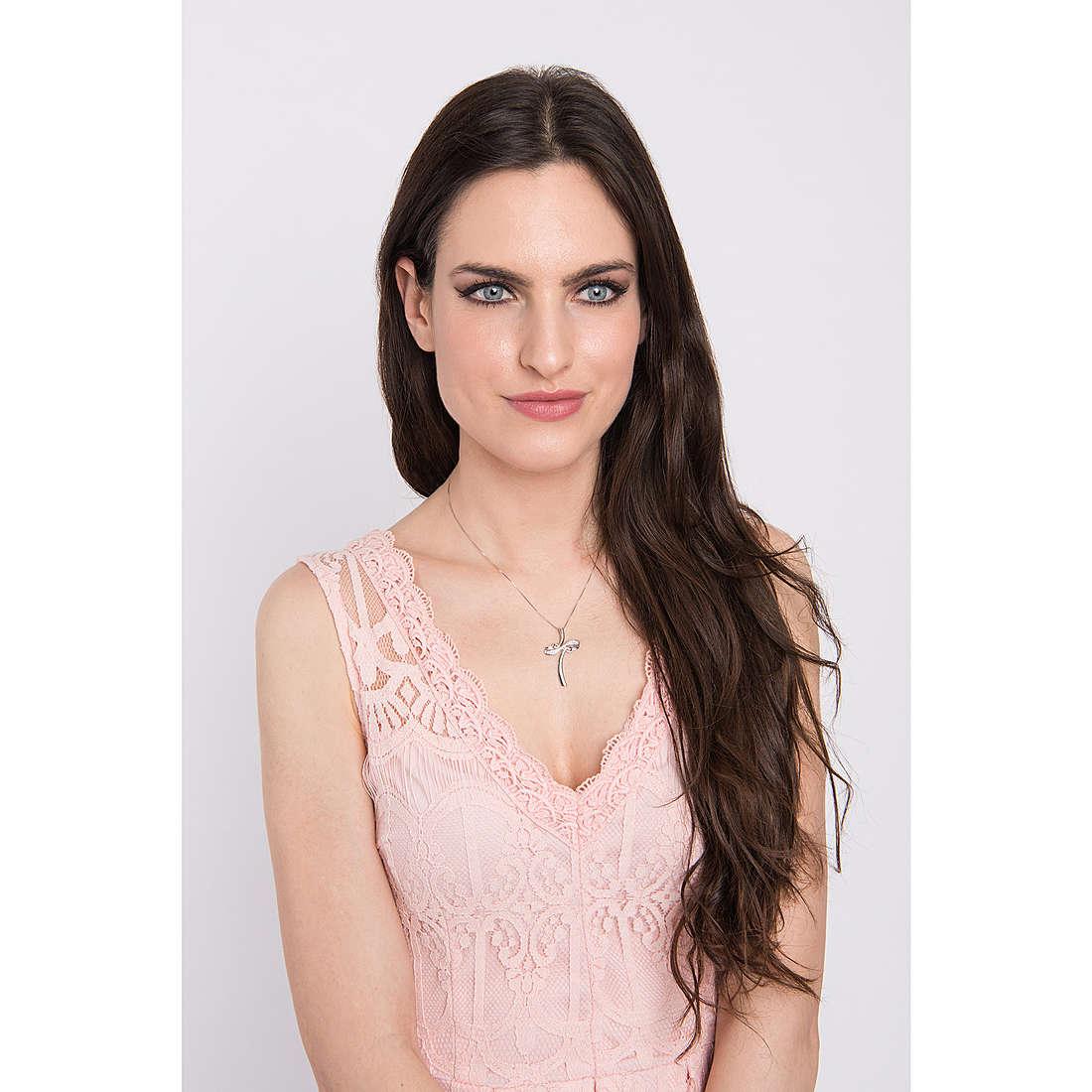 Comete necklaces Fantasie di Diamanti woman GLB 1330 photo wearing