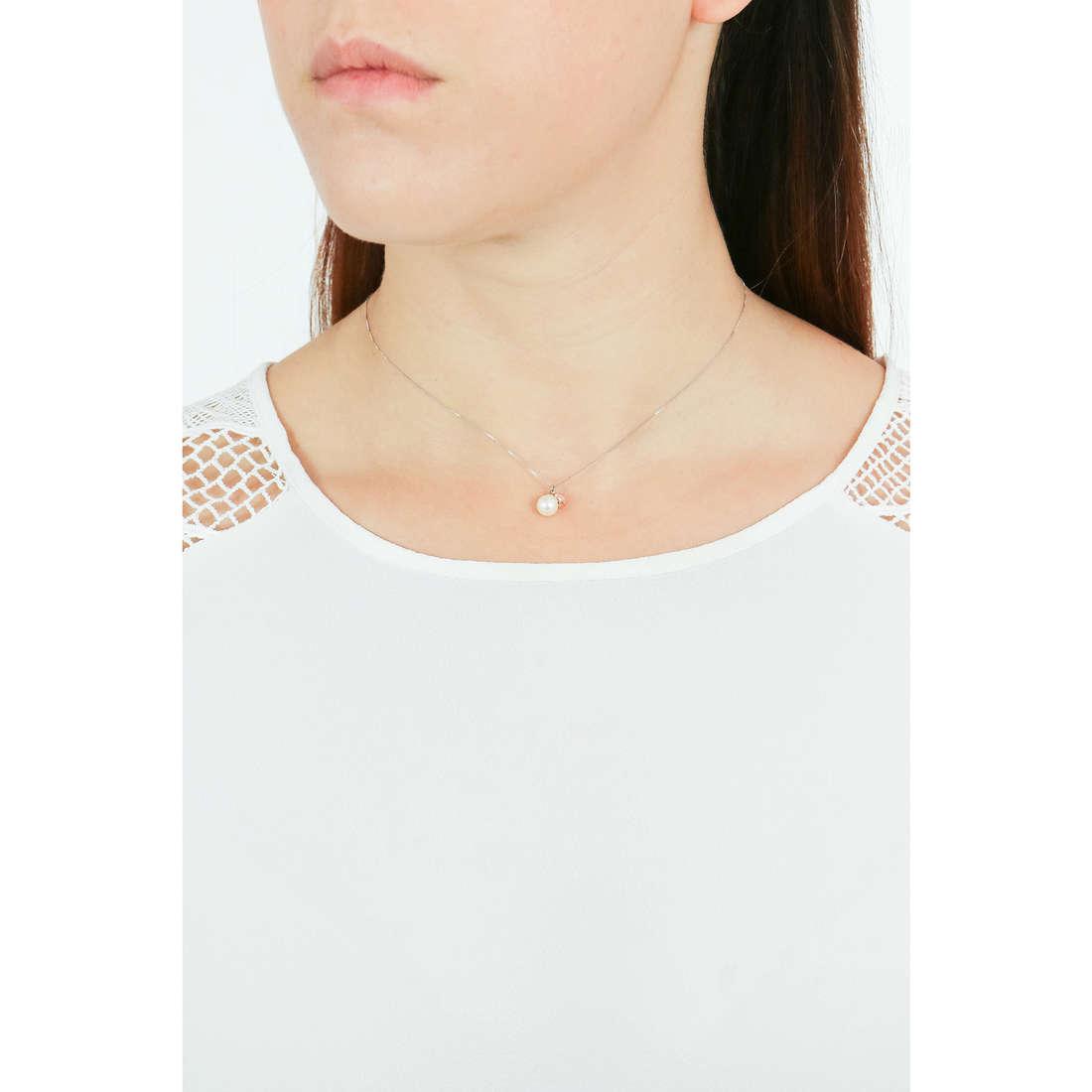 Comete necklaces Fantasie di perle woman GLP 474 indosso