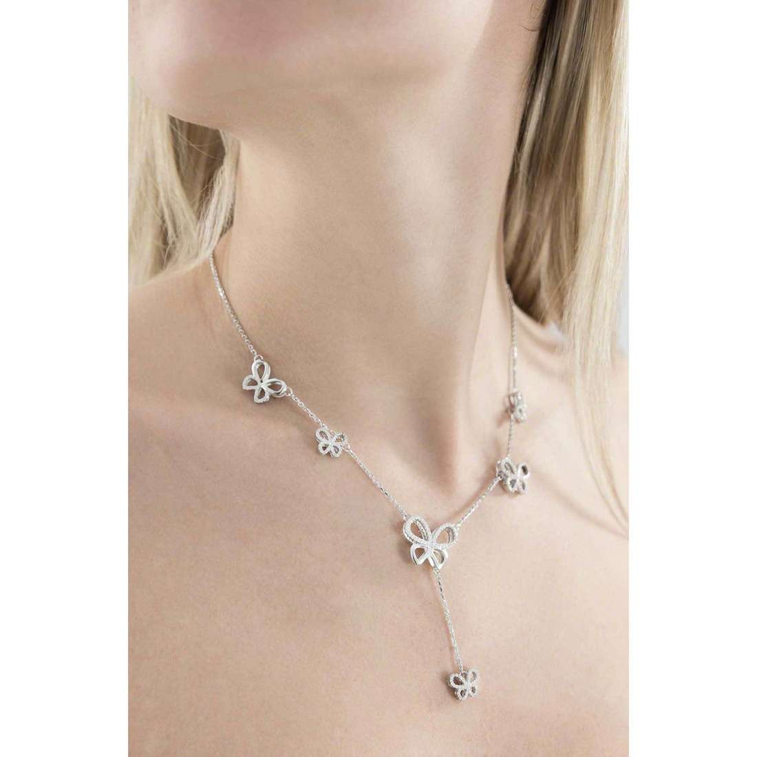 Comete necklaces Farfalle woman GLA 130 photo wearing
