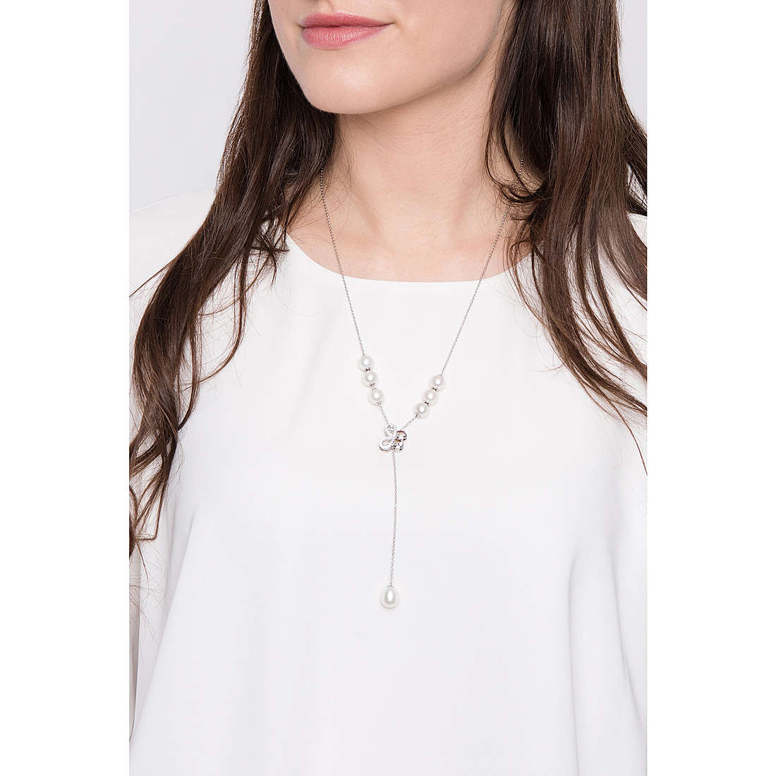 Comete necklaces Farfalle woman GLA 139 photo wearing