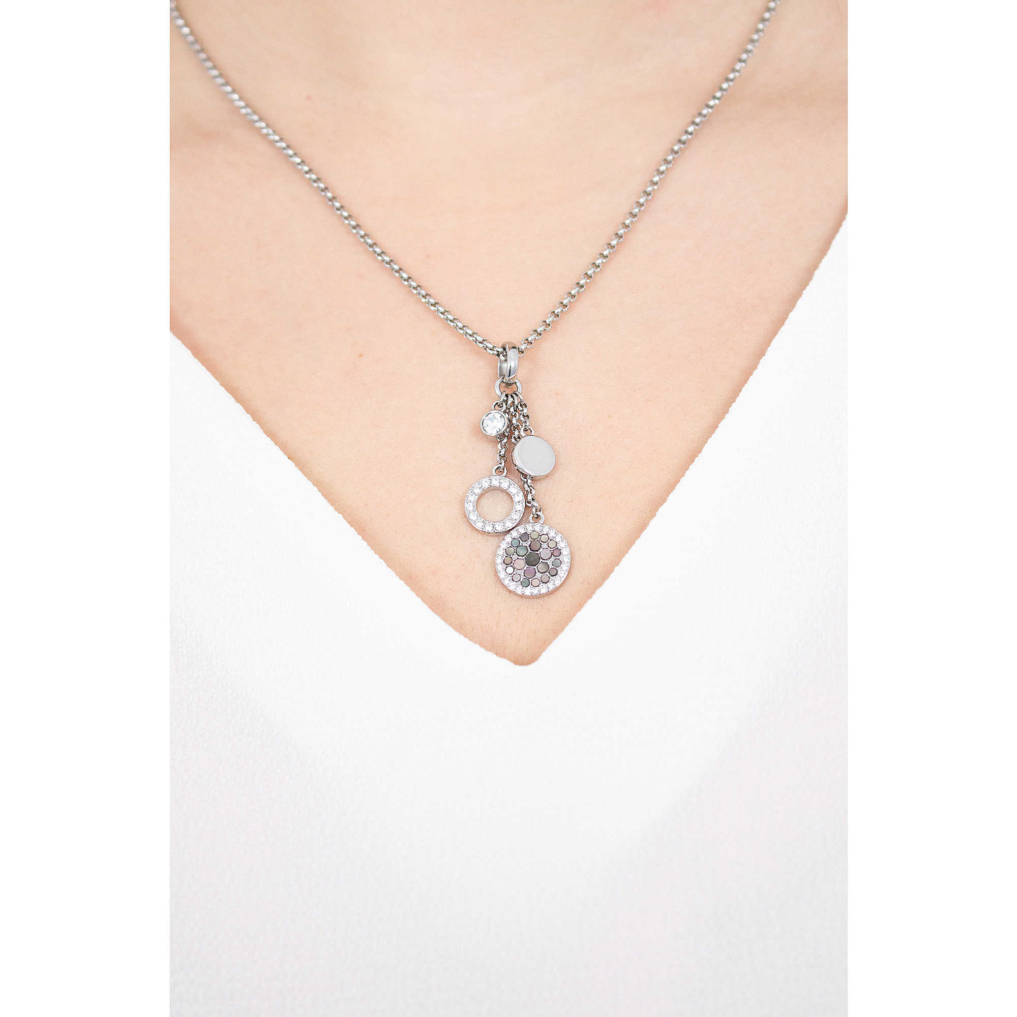 Fossil Women Stainless Steel Pendant Necklace - JF02819040 NV0JGmFTst
