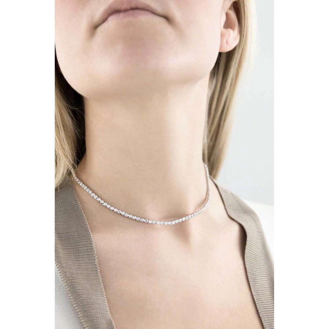 GioiaPura necklaces woman 25026-01-40 indosso