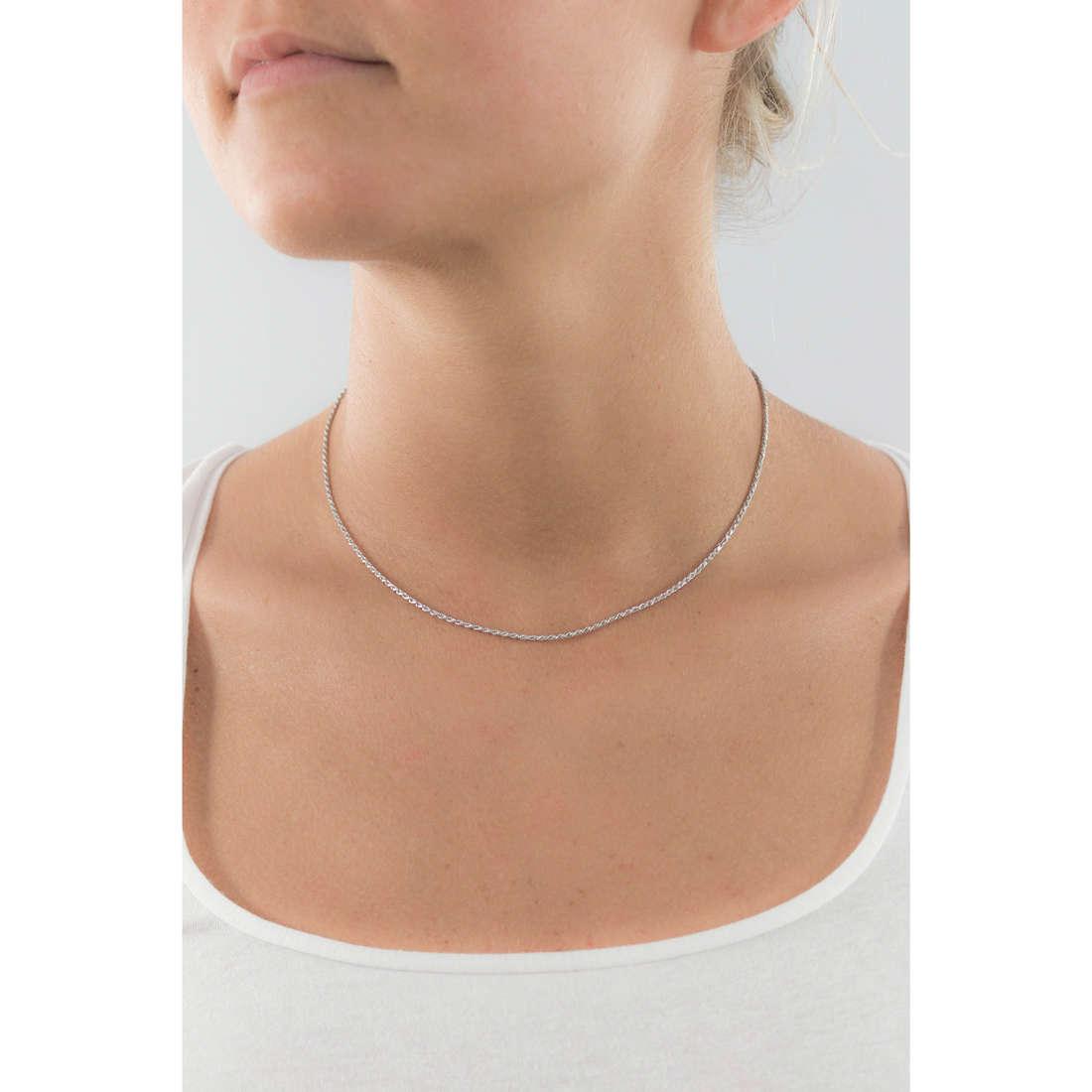 GioiaPura necklaces woman GPSRBS0373F-R-45 indosso