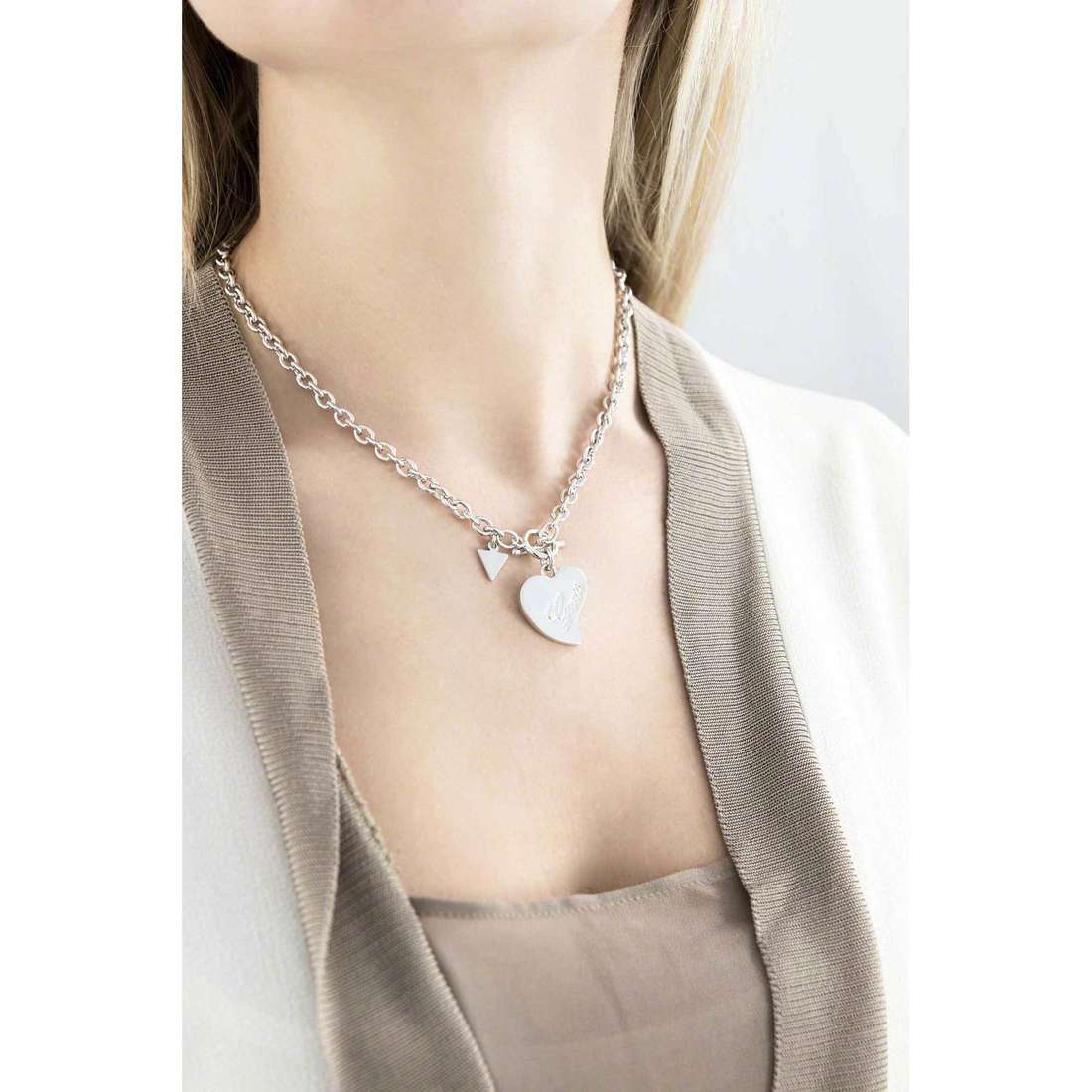 Guess necklaces Love woman UBN71539 indosso