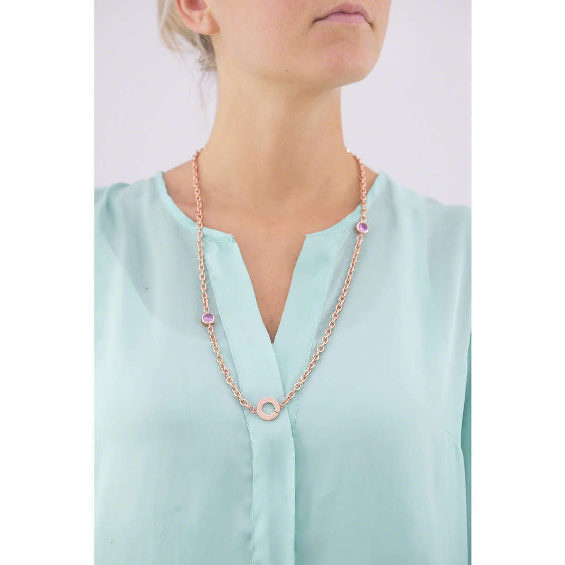 Liujo necklaces Illumina woman LJ967 indosso