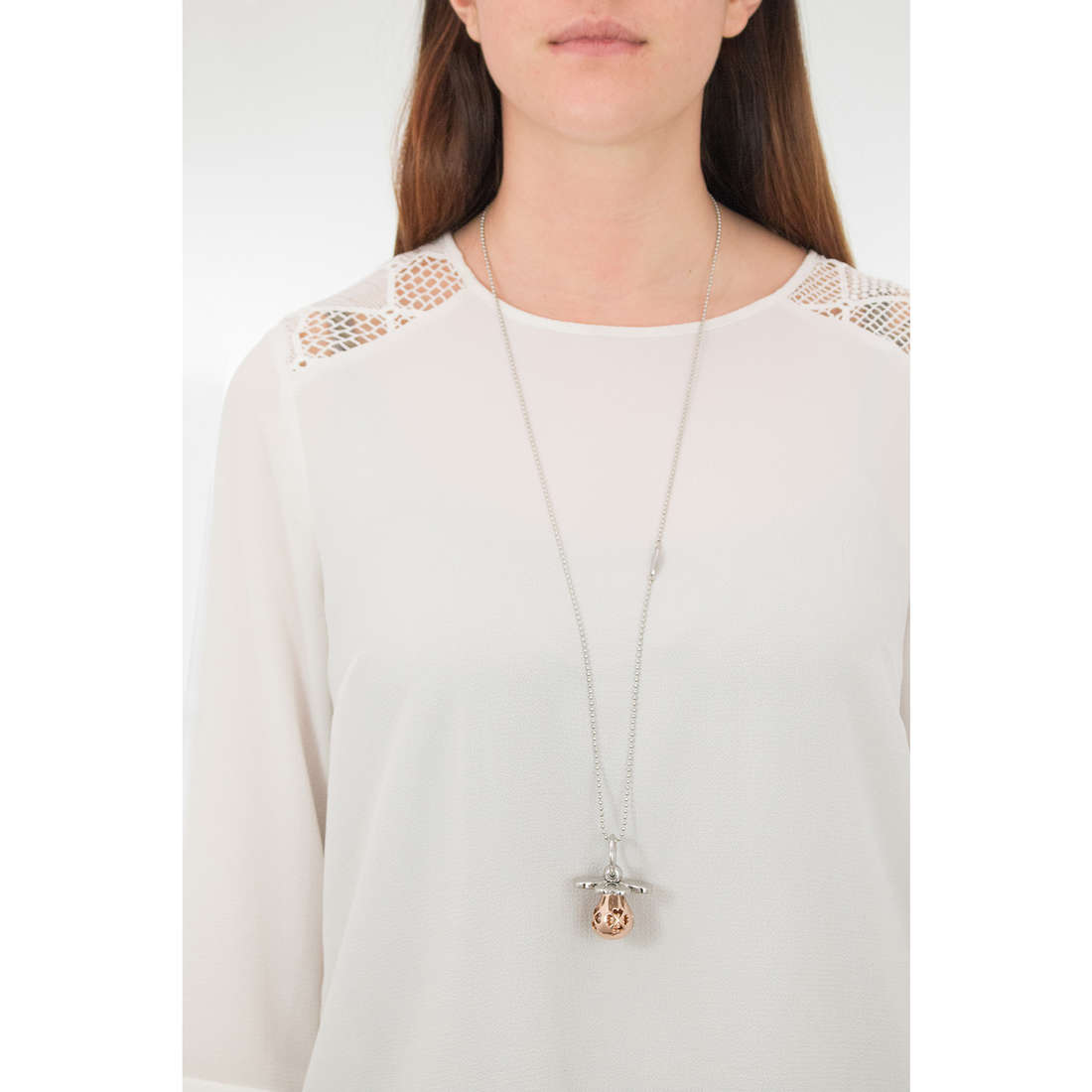 Luca Barra necklaces Babe woman LBCK1047 indosso