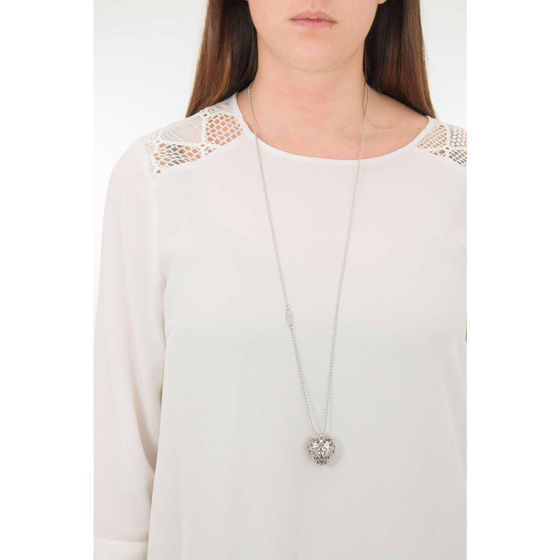 Luca Barra necklaces Babe woman LBCK1051 photo wearing