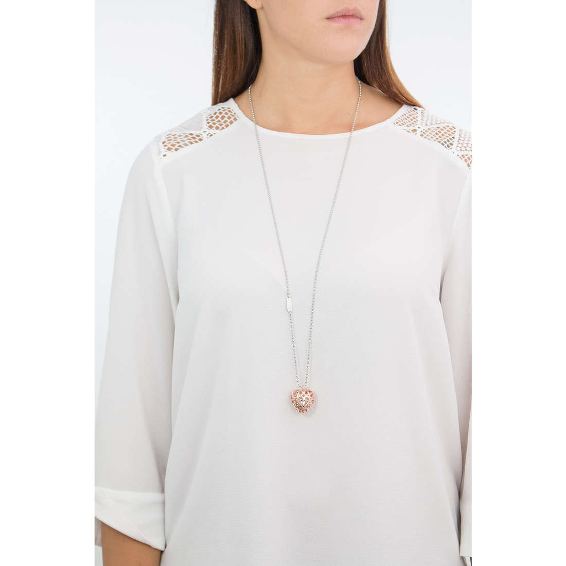 Luca Barra necklaces woman LBCK1052 photo wearing