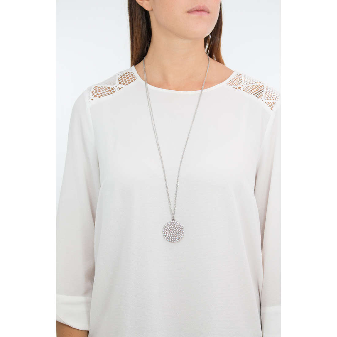 Luca Barra necklaces woman LBCK1067 photo wearing